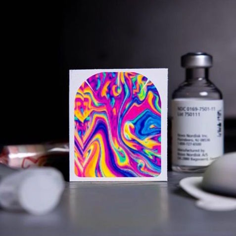 Stickers Omnipod - Rainbow Lava