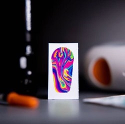Sticker Dexcom G6 Transmitter - Rainbow Lava