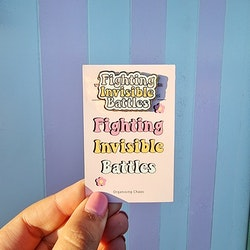 O.C. Pin - Fighting Invisible Battles