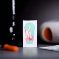 Sticker Dexcom G6 Transmitter - Flamingo Ice