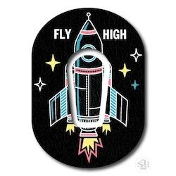 Sticker Dexcom G6 Transmitter & OverLay Patch - Fly High