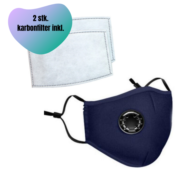 Beskyttelsesmaske / munnbind m. ventil