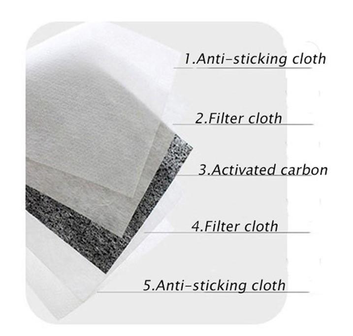 Karbon-filter til munnbind 2 stk.