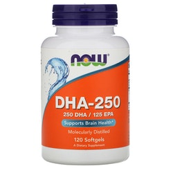 Now Food 250 mg. DHA, 120 kapsler