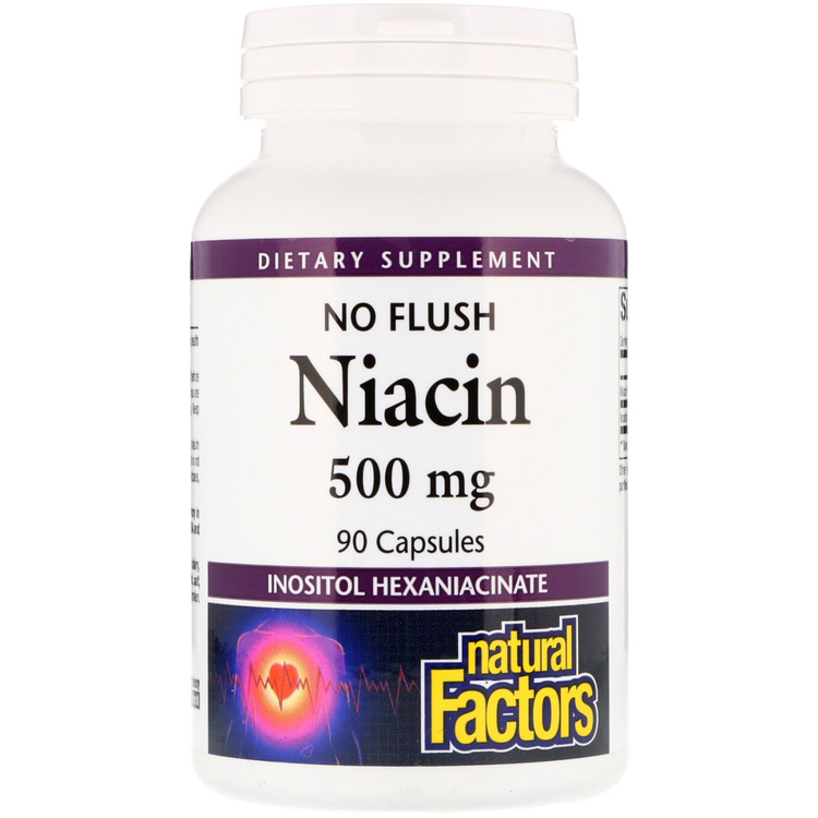 No flush - Niacin, 500 mg