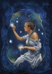 Painting Stars Print