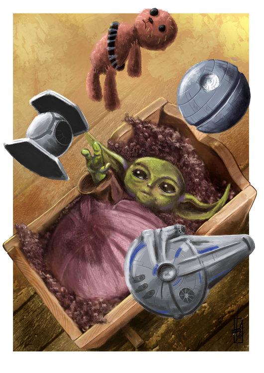 Mini-Yoda Print