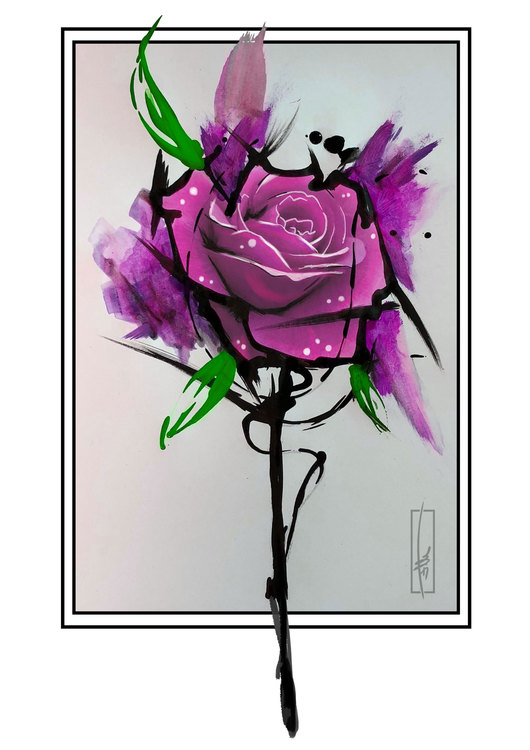Dance on Roses Print