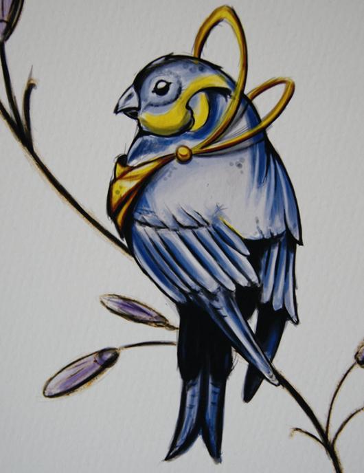 Nightbird Originaltavla