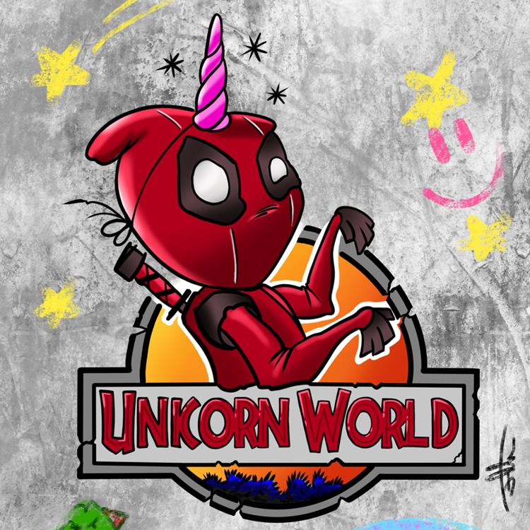 Unicorn World Comic Print