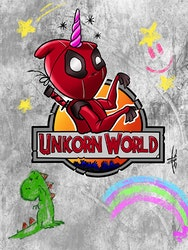 Unicorn World Comic Print