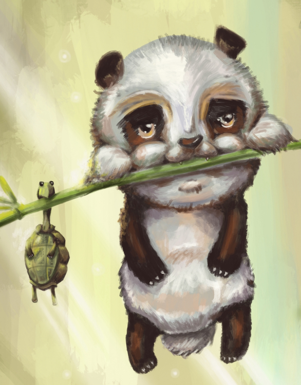 Pandan och sköldpaddan
