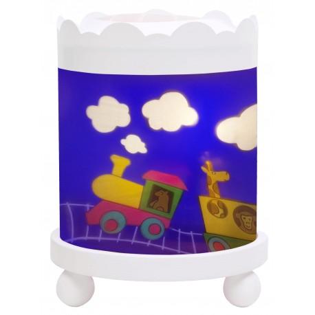 Projektor nattlampa med tåg
