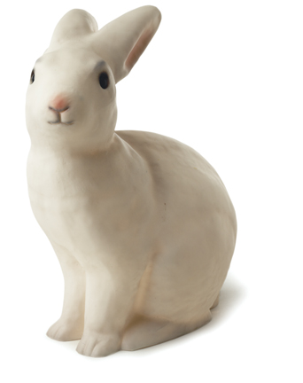 Klassisk vit kaninlampa från Heico /egmont