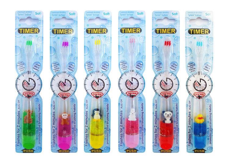 Blinkande tandborstar olika varianter