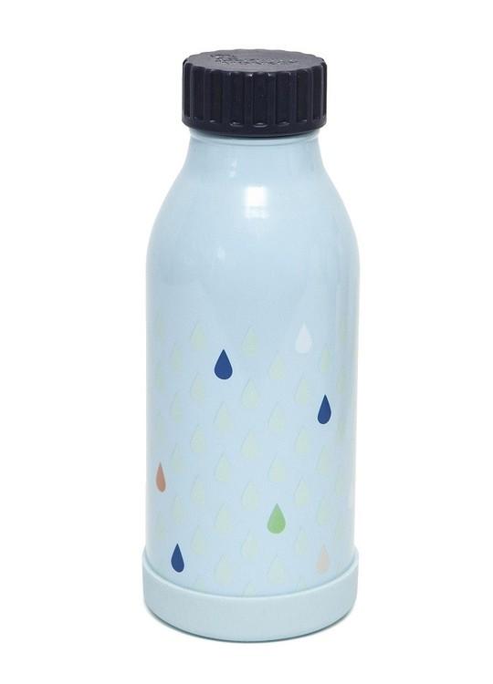 Drickflaska i rostfritt stål Blå