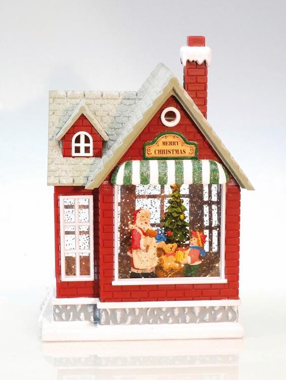 Julehus med glitter