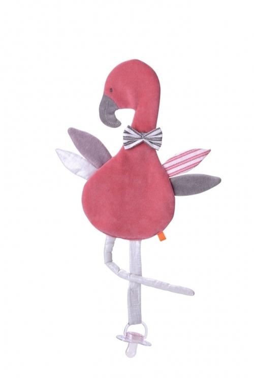 Snutte med napphållare Flamingo