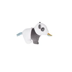 Skallra panda med burr och prassel aktivitet eko