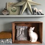 Klassisk kaninlampa - Vit