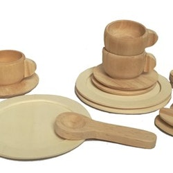 NATURAL WOODEN DINNER SET