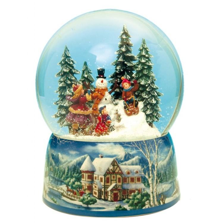 Jul Glob snögubbe lykta stor