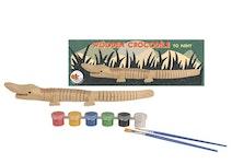 Krokodil i trä målarset