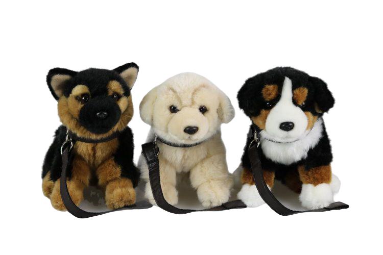 Hund med koppel 3 sorter
