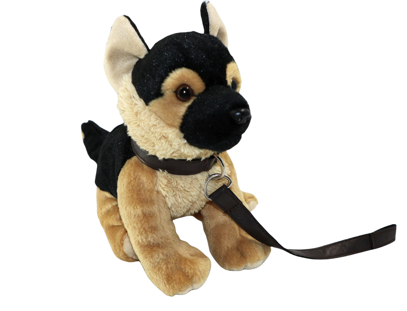 Hund Schäfer med koppel