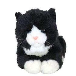 Katt med ljud svartvit