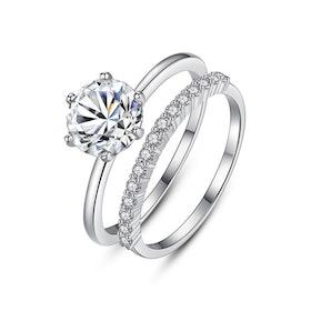 Ring(set) i äkta sterling silver 925s med Cubic zirconia R1008022