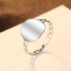 SILVER RING - Olivine R1008032