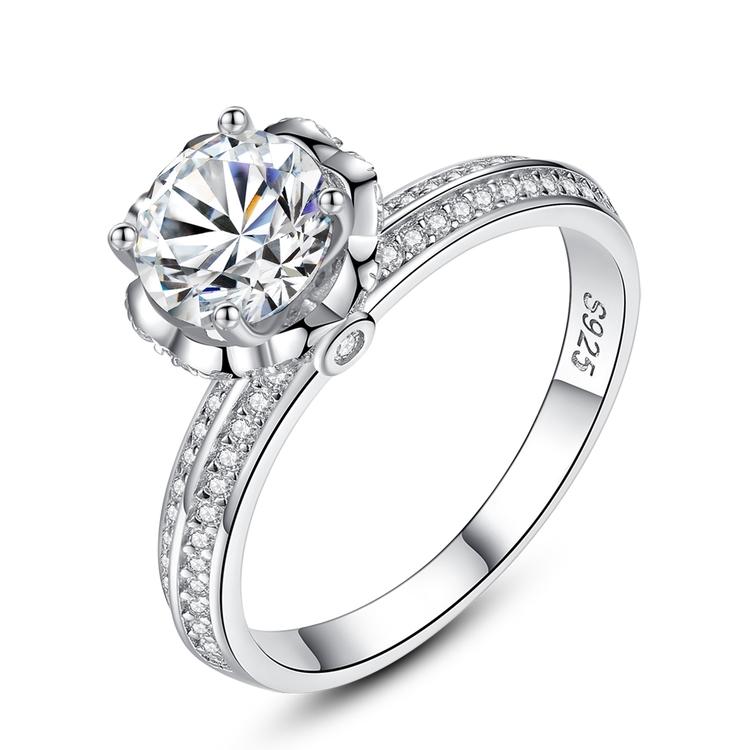 Ring i äkta sterling silver 925s Ring med CZ AAA+ R1008006
