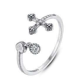 Ring i äkta sterling silver 925s Justerbar JR1008002