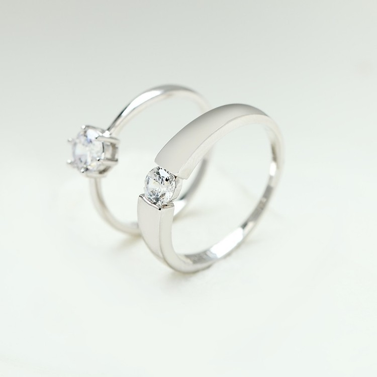 SILVER RING - Lilac R1008062