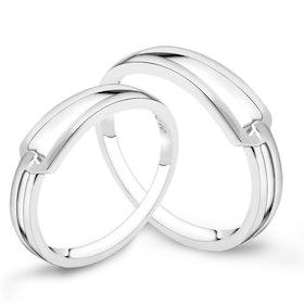 Ring i äkta sterling silver 925s i två olika varianter R1008058