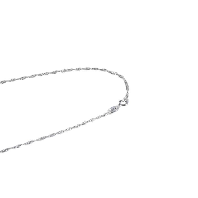 SILVER HALSBAND - Twist N1008030