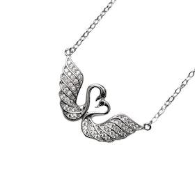 Halsband i äkta sterling silver 925s Svan N1008004