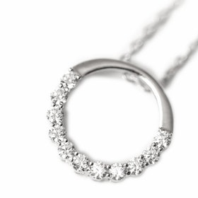 Halsband i äkta sterling silver 925s Cirkel N1008006