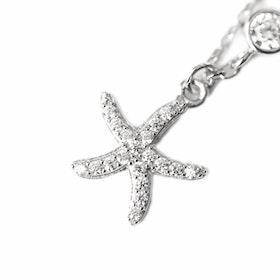 Halsband i äkta sterling silver 925s Sjöstjärna N1008010