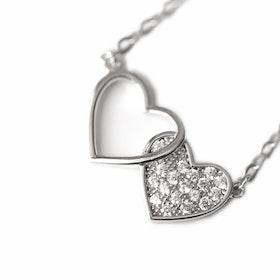 Halsband i äkta sterling silver Hjärtan 925s N1008011
