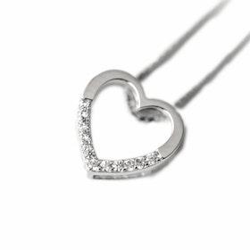 Halsband i äkta sterling silver 925s Hjärta N1008015