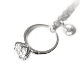 Halsband i äkta sterling silver 925s Ring N1008025