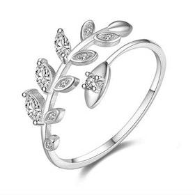 Ring i äkta sterling silver 925s Justerbar JR1008004