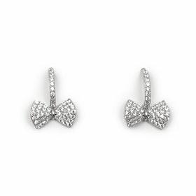 Örhängen i äkta sterling silver 925s Rosett E1008049