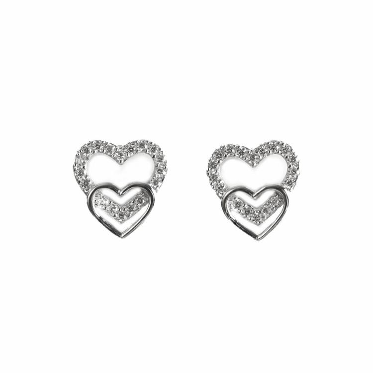 SILVER ÖRHÄNGEN - Heart E1008013