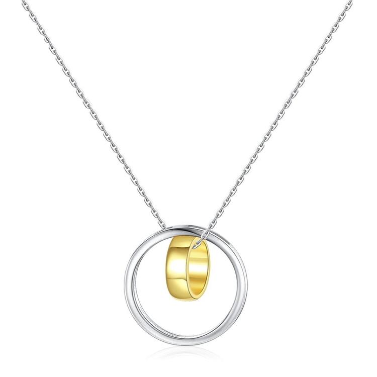 Halsband i äkta sterling silver med guldplätering 925s N1008037