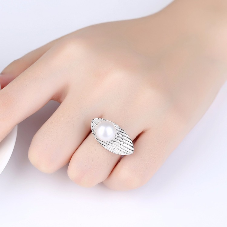 SILVER RING - Pearl JR1008008
