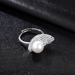 SILVER RING - Pearl JR1008008