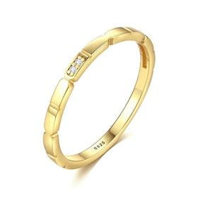 Ring i äkta sterling silver Guldpläterad 925s R1008016
